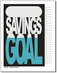 Savings Goal Progress Chart Savings Chart Debt Free Debt