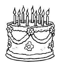 Small Picture Single Layer Beautiful Birthday Cake Coloring Pages Coloring Pages