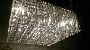 square crystal ceiling lights