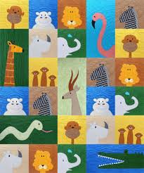 Animal Quilt Patterns Awesome Safari Applique Quilt Pattern Shiny Happy World