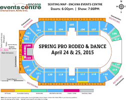 Calgary Rodeo Seating Chart Spring Breakup Pro Rodeo Encana Events Centre Dawson