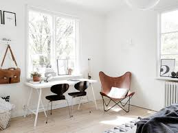 scandinavian leather chairs. Plain Leather Scandinavian Interior Tan Leather Butterfly Chair Throughout Leather Chairs O