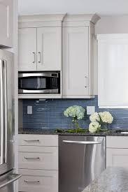 glass tiled backsplash kristin peake interiors white and blue kitchens view full size