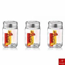 pcs kitchen storage set bormioli rocco dziner ml cube jars  pcs set chilli