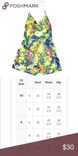 Romeo And Juliet Couture Size Chart Romeo Juliet Couture Tropical Halter Romper M Romeo