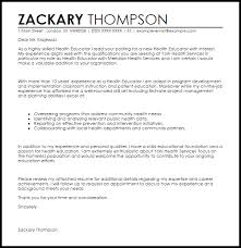 Cover Letter Examples For Health Educators Health Educator Cover