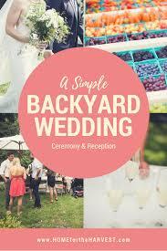 A Bright Summer Backyard Wedding Anniversary At A Private Summer Backyard Wedding