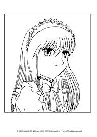 Zakuro Fujiwara Portrait Coloring Page Looking