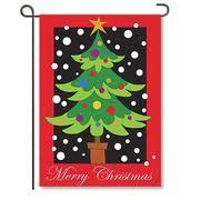 christmas garden flag. Unique Christmas Merry Christmas Tree Applique Garden Flag On