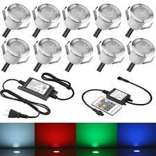 Low Voltage Color Led Landscape Lighting Fvtled 10pcs 0 3w Low Voltage Led Deck Lights Kit Garden