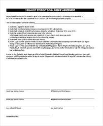 scholarship templates 7 scholarship contract samples templates pdf doc
