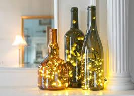 Decorative Wine Bottles With Lights Shining Christmas Lights Wine Bottle Inside In Craft Diy Bottles 18