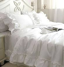 ruffle bedding romantic white ruffle lace bedding sets princess duvet cover color comforter full queen king