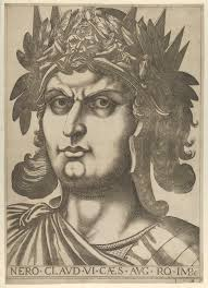 Twelve Caesars File Plate 6 Nero With His Head Turned Slightly To The Right From