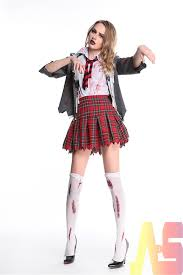 girls zombie school girl costume uniform scary