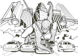 Online Color Book Spider Man Color Pages Good Coloring Page Free