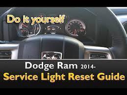 dodge ram 2016 service indicator reset