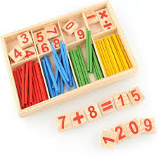 Wooden Math Games Math Toy Wooden Number Math Game Sticks Educational Toy Puzzle 21