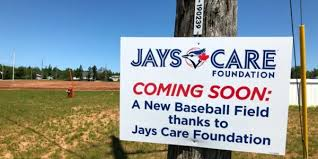 the blue jays care foundation is helping to fund construction of a new ball diamond for