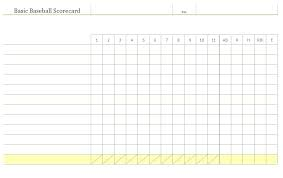 Golf Score Card Template Blank Baseball Score Sheet Scoreboard Scores Craft Ideas Scorecard
