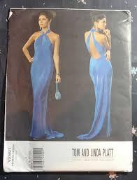 Designer Evening Gown Patterns Vogue V2891 Womens Miss Tom Linda Platt Designer Dress