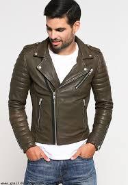 men s jackets serge pariente hipster leather jacket kakhi ehibwnqv