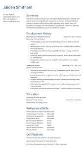 Summary Sample For Resume Teaching Resume Sample Resume Com