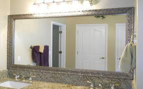 Bathroom: Elegant Bathroom Decor With Large Framed Bathroom For Large Long  Mirror (Image 1