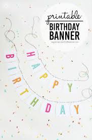Birthday Banner Printable Free Printable Birthday Banner