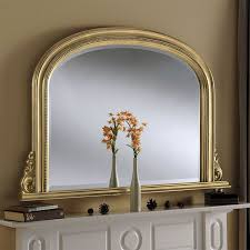 ornate gold overmantle mirror 121x79cm