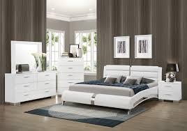 Queen Bed Bedroom Set Coaster 300345q S4 Felicity Glossy White 4 Pcs Queen Bedroom Set