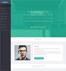 Free Resume Website Templates Free Resume Cv Web Templates Free
