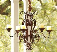 iron candle chandelier wrought