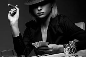 Hasil gambar untuk poker girl black and white photography