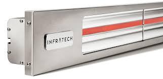 slimline silver outdoor heater