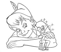 Small Picture Peter Pan And Tinkerbell Coloring Pages Cartoon Coloring pages