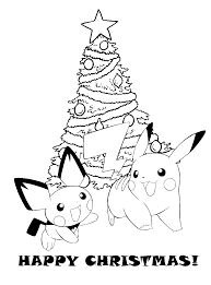 Printable Pokemon Christmas Coloring Pages Pokemon