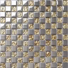 crystal glass tile sheets metal coating tiles mosaic glass tile backsplash kitchen wall borders bathroom design dt51