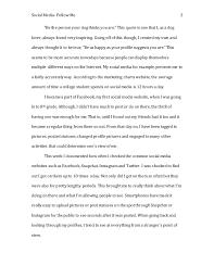 social media essay social
