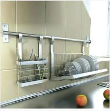 kitchen dish drainer kitchen plate rack stainless steel kitchen shelves knives drill plate dish rack storage kitchen dish drainer