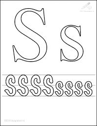 Kleurplaat Tekens Letters Kleurplaat Letter S