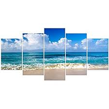 pyradecor seaside extra large canvas prints wall art ocean sea beach landscape pictures paintings for bathroom on amazon beach canvas wall art with amazon pyradecor seaside extra large canvas prints wall art