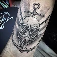 60 Diver Tetování Vzory Pro Muže Podvodní Inkoustové Nápady