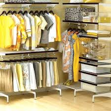 freestanding closet system ideas build wardrobe double rod
