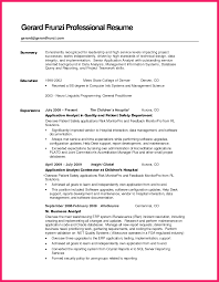 Summary Example For Resume Summary Examples For Resume Bio Letter Format 22