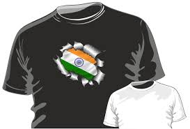 Indian Flag T Shirts Design Ripped Torn Metal Design With India Indian Country Flag Motif Mens Or Ladyfit T Shirt