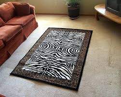 cheetah print rug zebra leopard border area animal bath sets