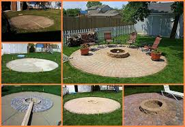 diy patio with fire pit. Exellent Fire On Diy Patio With Fire Pit