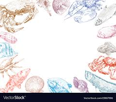 Fish Backgrounds Seafood Fish And Crabs Backgrounds