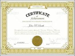 Free Professional Certificate Templates Stunning Templates Of Certificates Achievement Template Printable Certificate